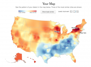 This is my map -- I'm from Rochester (so it was pretty accurate).
