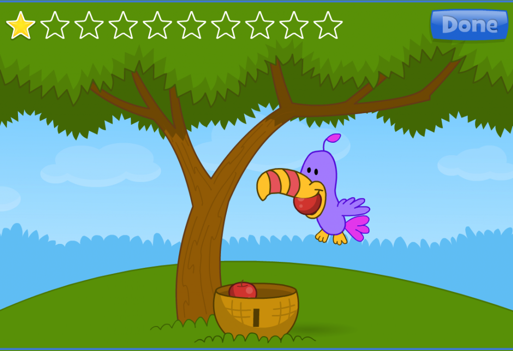 Apple Catch requires that the player moves the mouse to where is apple is dropping.