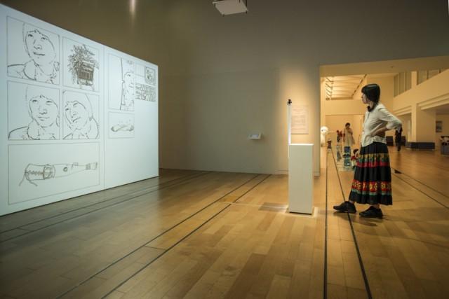 A view making a comic using the Ideogenetic Machine by Nova Jiang
