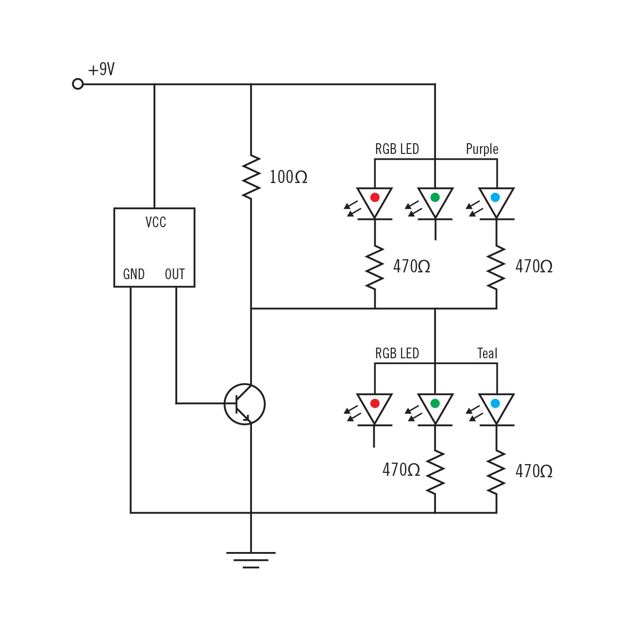 1a Basic Circuits Project Finding Patterns In Sound Physical Computing 9v Rgb Led Wiring Diagram Circuit 01