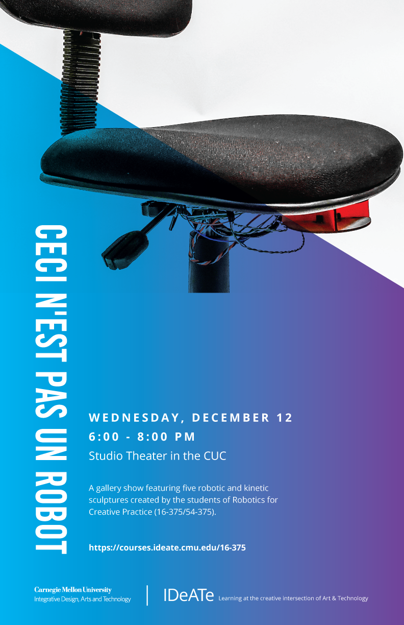 Overview Robotics For Creative Practice Fall 2018