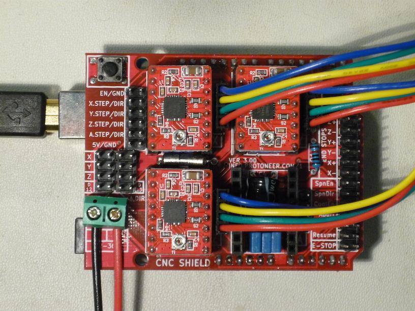 CNC Arduino Shield — Kinetic Fabrics