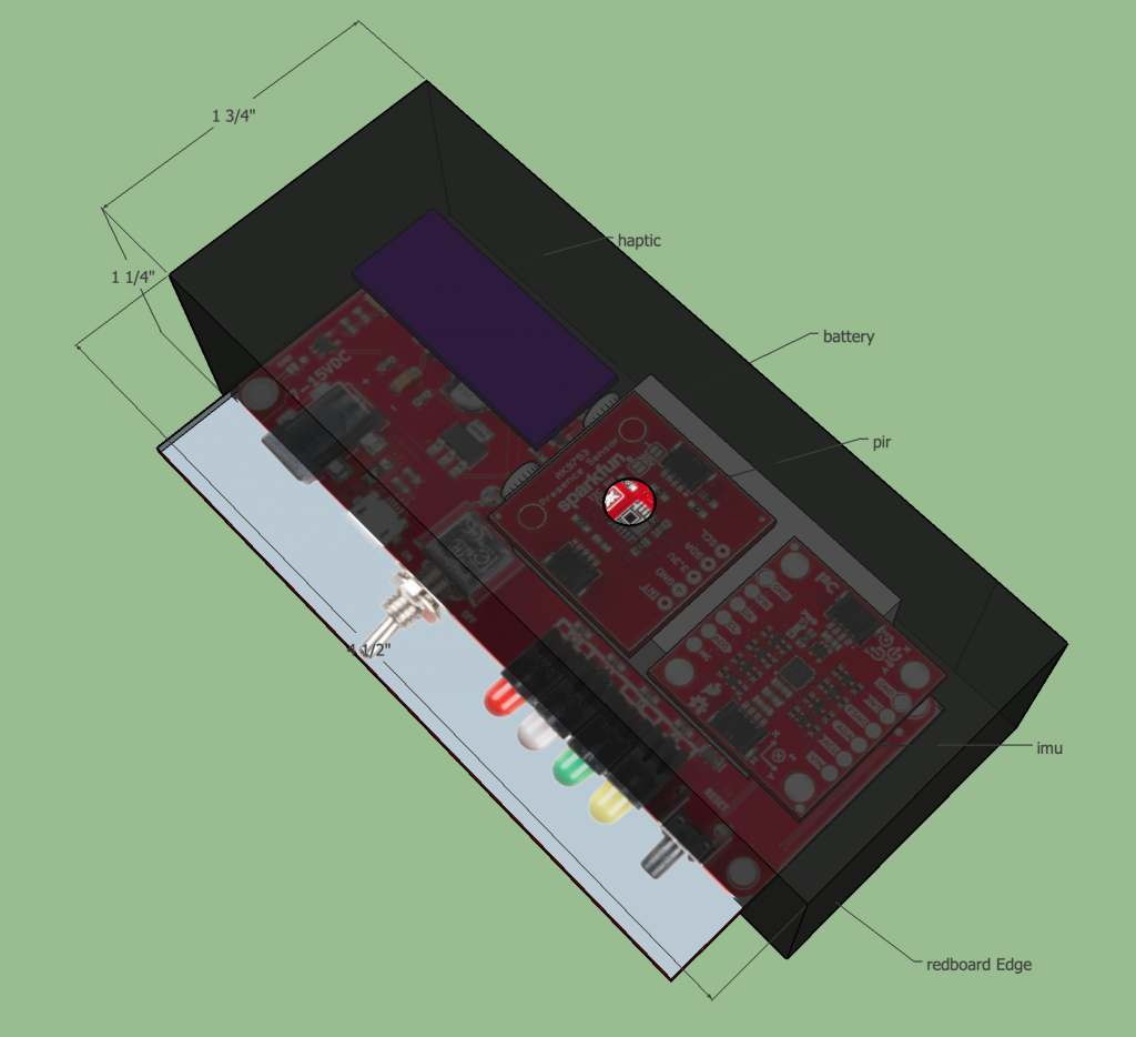Haptic Human Sensor Physical Layout