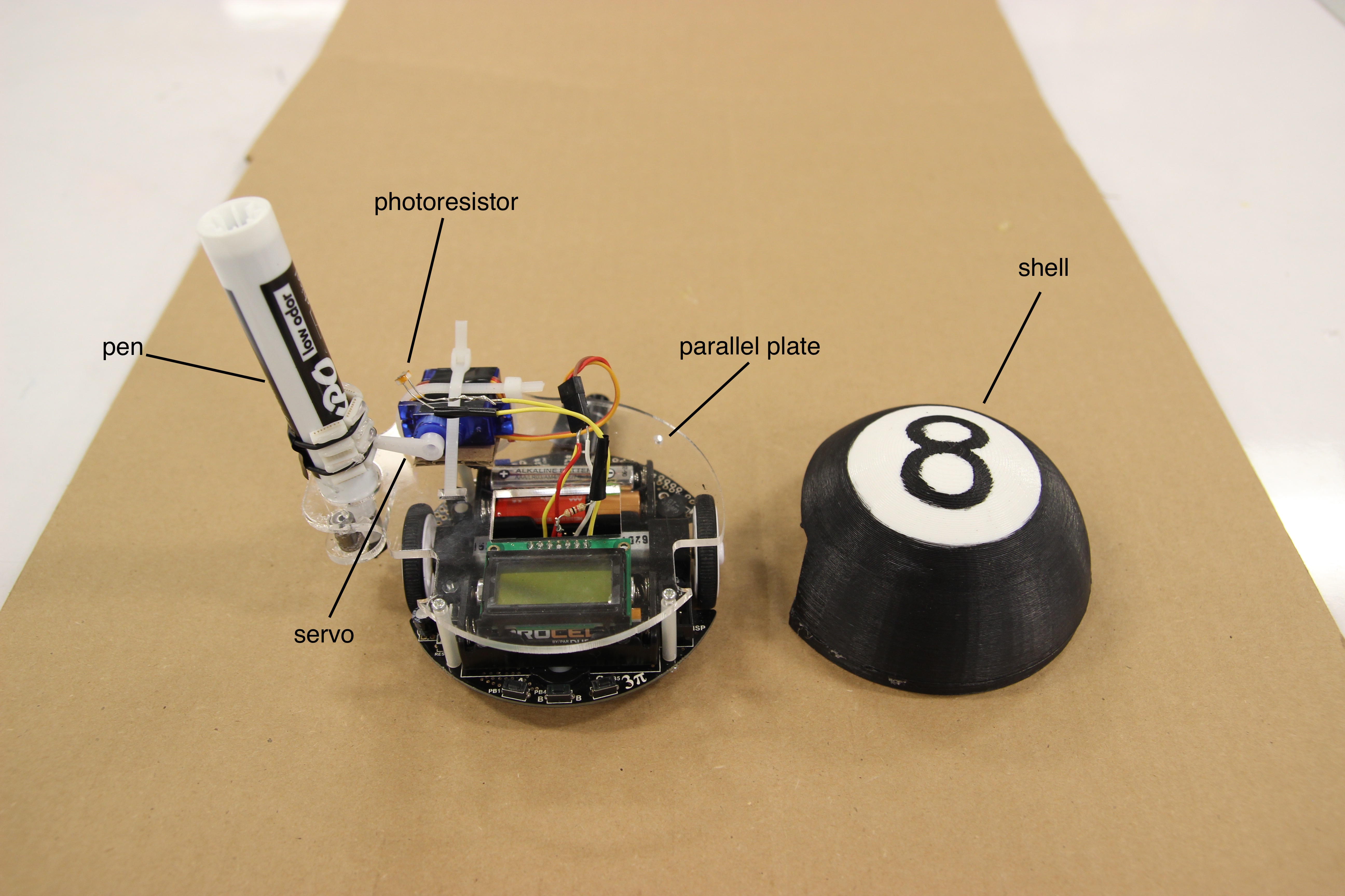 "Mobile Robot: ""Magic 8 Bot"" 