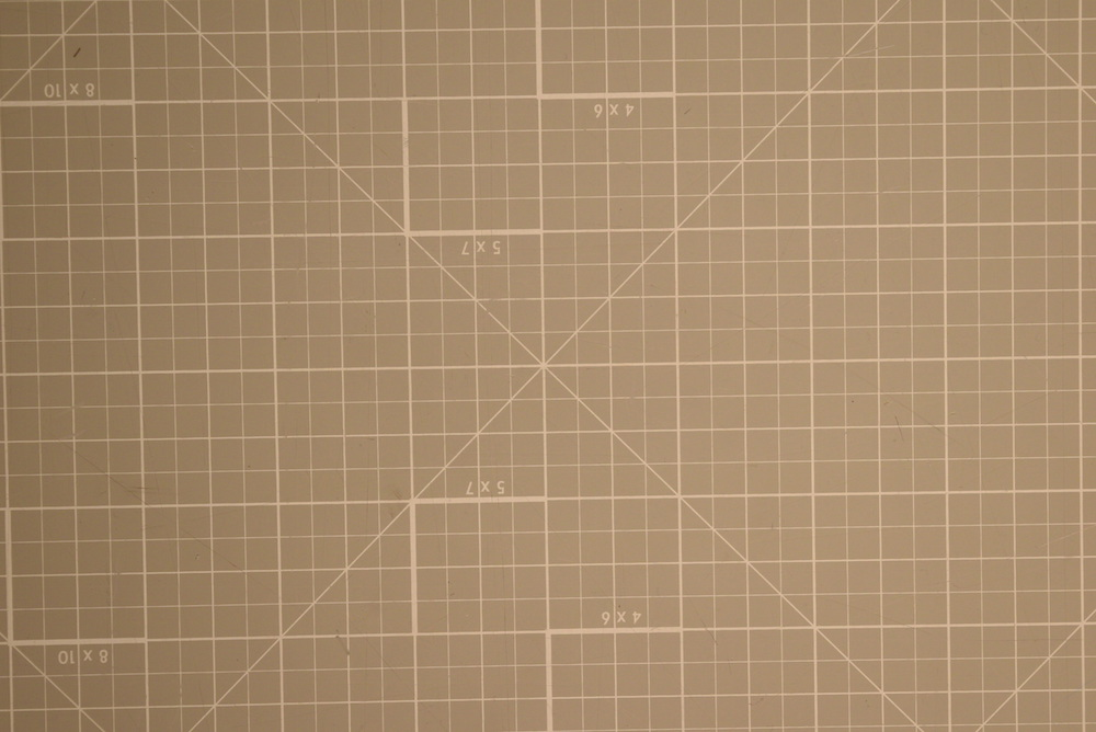 Closeup image of orthogonal grid pattern with no visible distortion.