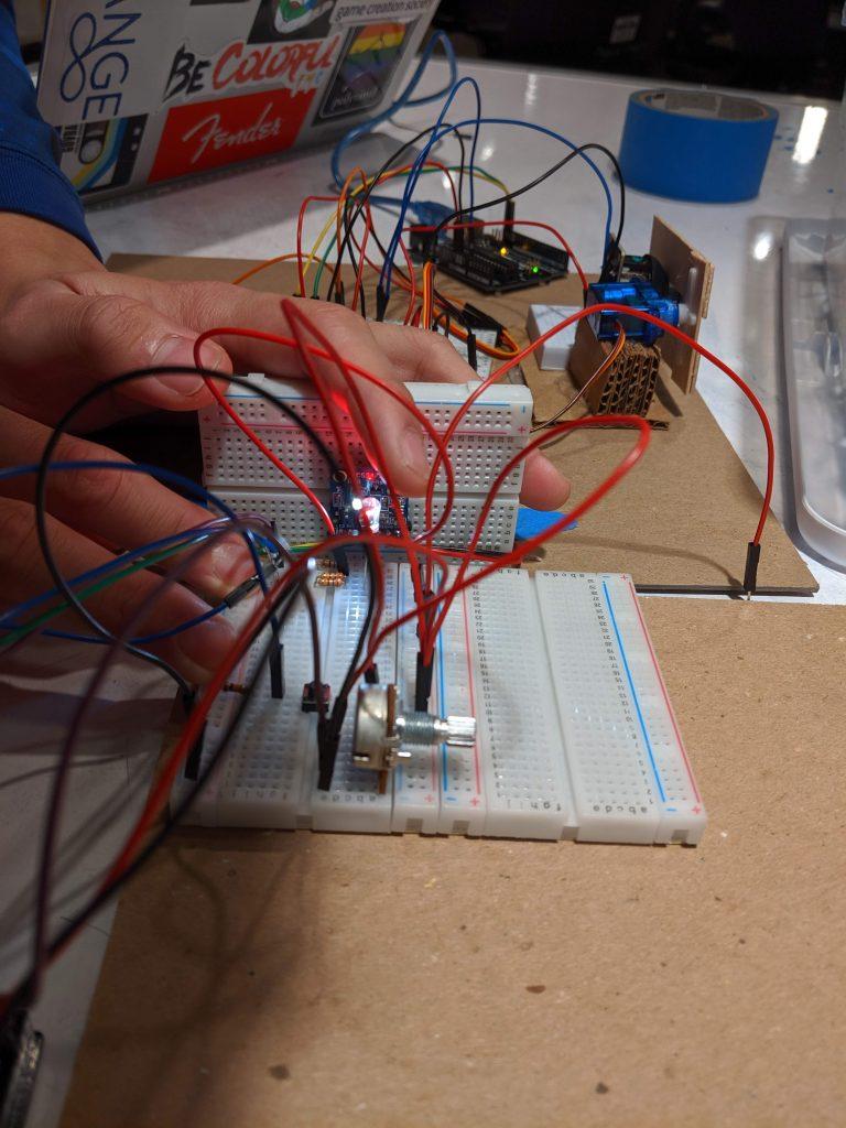testing diffused RGB LED