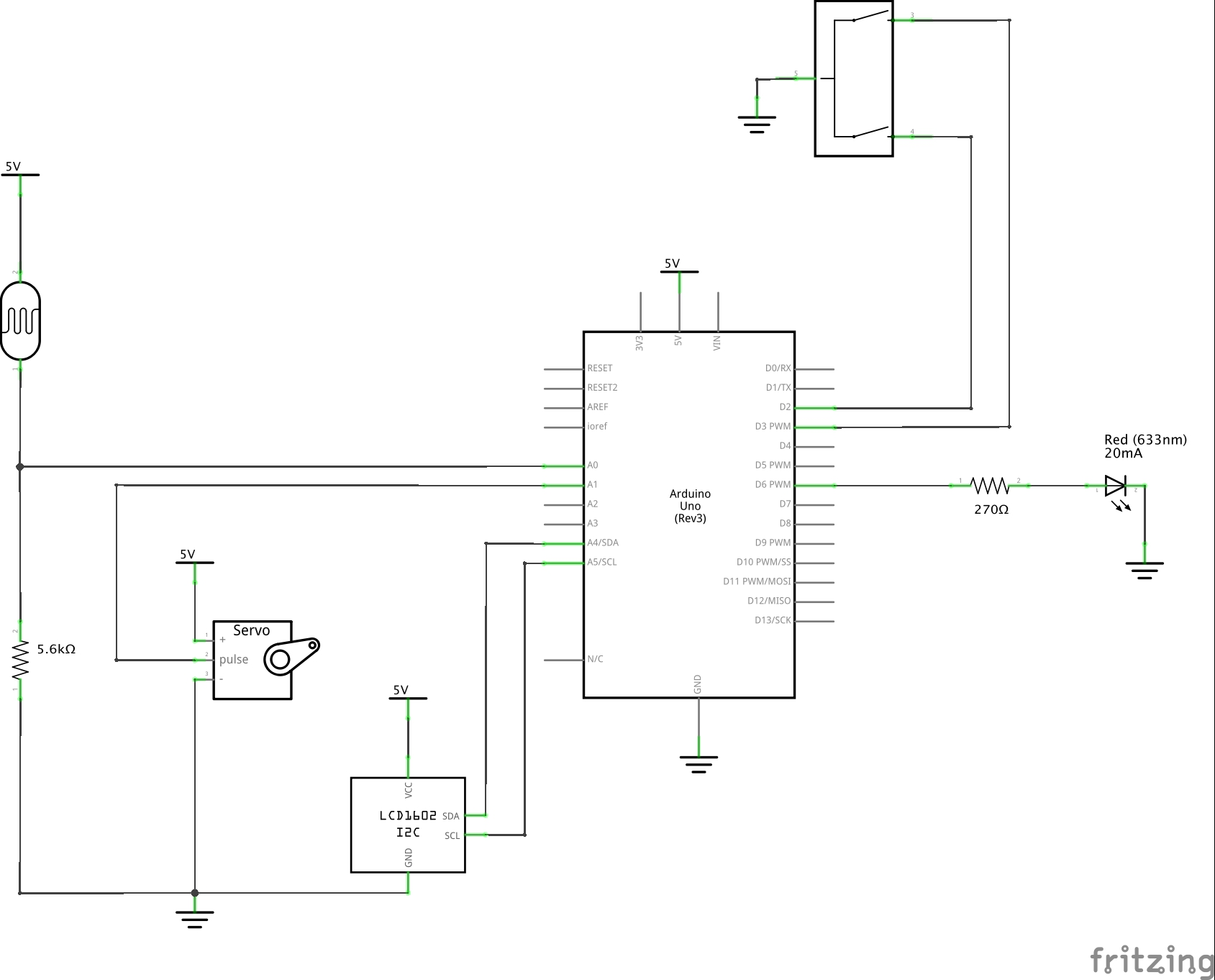 Schematic of the circuit wiring