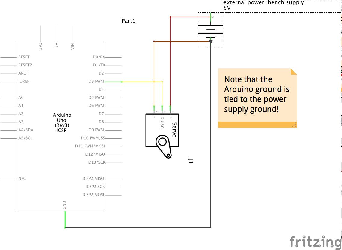 Using A Hobby Servomotor Intro To Arduino Servo Wiring Diagram Code Move The Around Bit